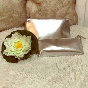 Macy's silver makeup bag set of 2, New
